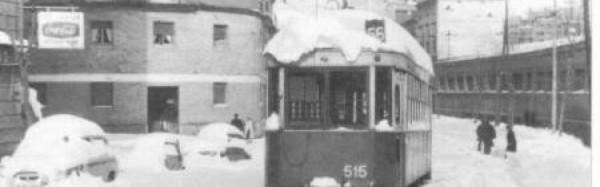 Avenida Borbón, Barcelona: la gran nevada de 1962