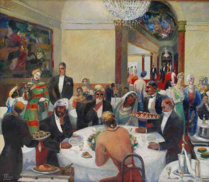 """""""L´hotel Ritz. Paris"""". Pierre Penon. c. 1925. Óleo sobre lienzo"""