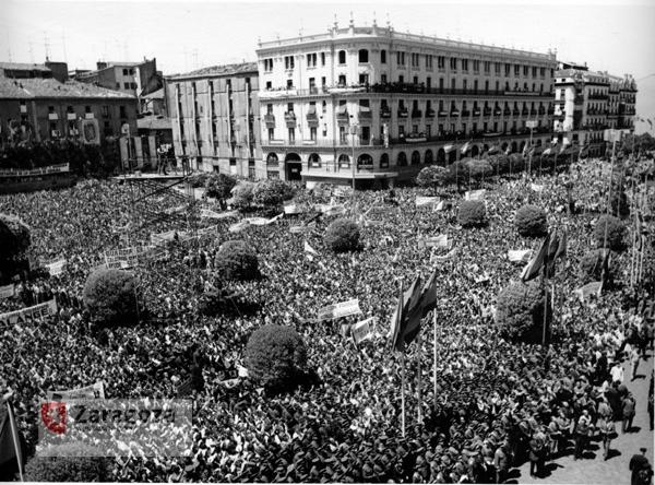 Visita de Franco a Zaragoza, julio 1970