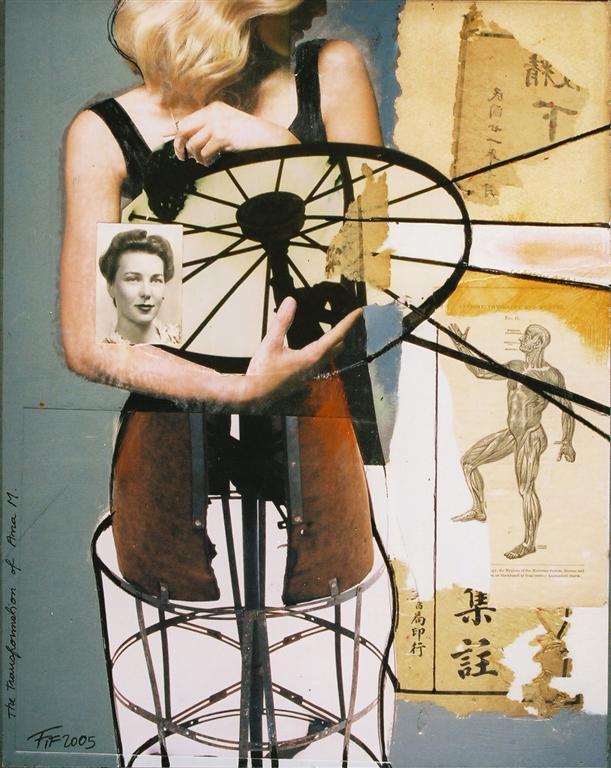 The transformation of Ana. Florin Firimita - Mixed Media Works. Superficie: Collage y el Montaje, Año: 2005